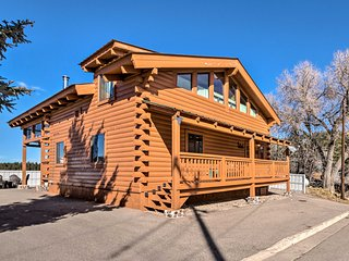 NEW! Pet-Friendly Log Cabin - Walk to Shops/Dining