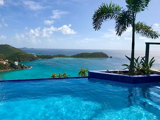 'One of the best views on St. John!' great breeze, just a few minutes from town