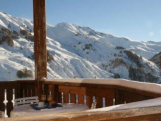 ***Orcieres- Pied de pistes 3P avec terrasse Sud, vue montagnes, garage