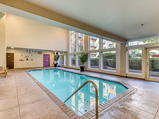 Charming condo w/ shared pool, hot tub, and gym in the heart of Belltown