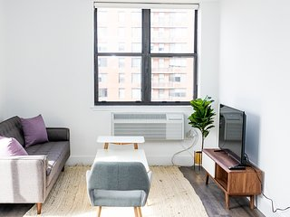 Modern 2BR with Balcony on Garden St 15min to NYC