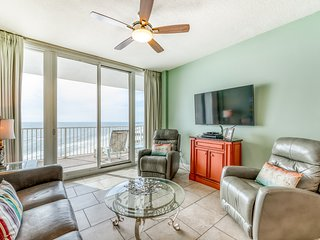 Beachfront condo w/ amazing Gulf views, shared pools, hot tub, and fitness room!