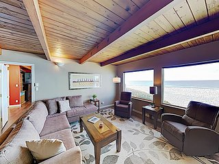 Spacious Oceanfront Getaway w/ Game Room, Epic Water Views & Private Hot Tub