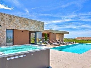 Modern Villa Vigneto, in Istria, with a Pool