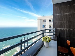 2BR BALCONY SeaView 67m²APT(35th)➖1min→MyKhe Beach