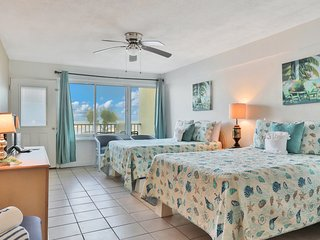 NEW LISTING! Oceanfront studio with private balcony, ocean view, and shared pool