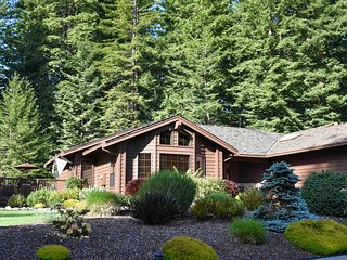 Quiet family home complete w/ a wood stove & a furnished deck - near town