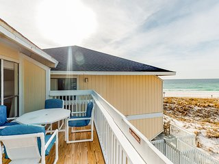 Spacious beachfront home with shared pool and beach access