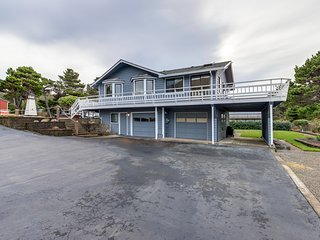 Homey dog-friendly house w/ partial ocean views, gas fireplaces, and gas-grill!