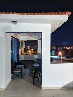 Private Penthouse Veranda at Night