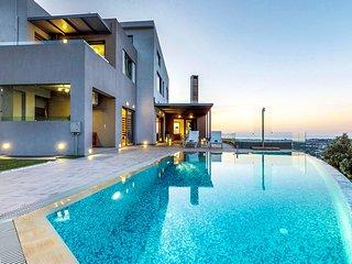 Panthea Seaview Villa With Heated Pool, Nerokourou Chania