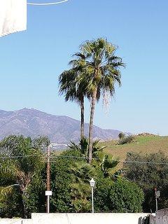 vistas a la montaña desde la terraza