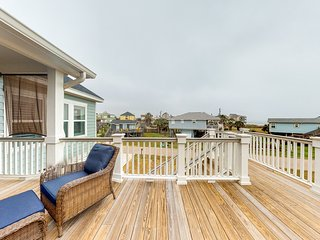 NEW LISTING! Beautiful home w/beach views from deck & balcony -walk to the beach