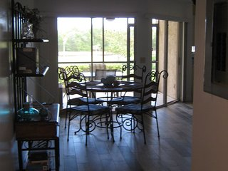 Main condo area including Dining room, Living room & Kitchen has full view of Lanai.
