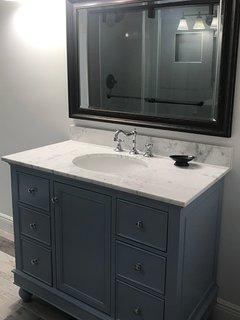 New Full Bath Vanity and Toilet.