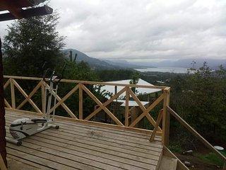 Cabana 10  personas en Lican Ray con vista al volcan y lago 180°