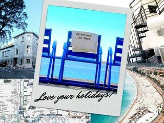 ★ SMART and...So NICE! ★ 300m plage & Promenade / Aeroport / Centre Ville Tram.