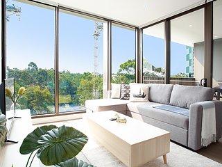 Designer Apartment with Balcony in Quiet Suburb
