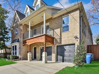 Two-level, dog-friendly home w/ backyard, fireplace, balcony, & park view
