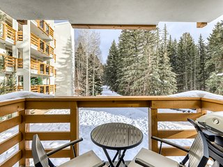 Mountain view condo that is ski-in/ski-out with amazing views off the bike path!
