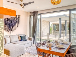 Modern jungle condo w/ private pool, rooftop, kitchenette, partial AC & WiFi