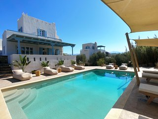 Seaside Naxos • 2 Villas Ariadne & Dimitra • 7 BDR • 6 BATH • Sleeps 18