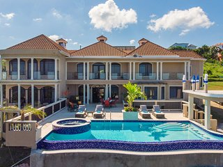 GRAND VILLA,INFINITY POOL, BUTLER SERVICE, CARIBBEAN SEAVIEWS, 2 MIN TO BEACH! M