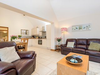 Open plan lounge, kitchen and dining area.  Superfast Secure Wi-Fi throughout.