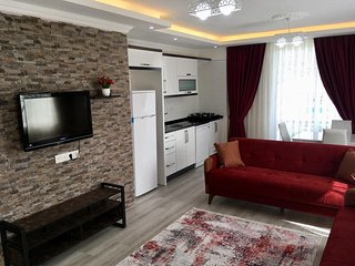 55m2  Fully equipped Apart with Kitchen and Balcony Flat in Ortaca
