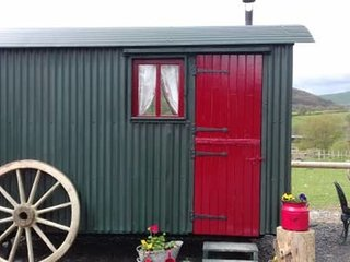 Ruby Shepherds hut sleeps 4.