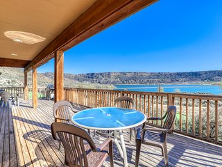 Expansive dog-friendly property w/ fireplaces, private BBQs, & lake views!