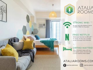 Atalia Rooms - Scandinavian Studio Overlooking Manila Bay With WIFI & Netflix