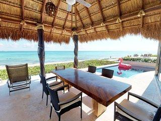 Spacious 4 BR Beachfront Villa w/Pool