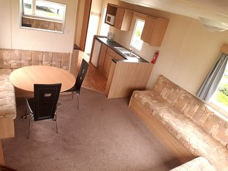 3 bed with decking Haven The Orchards Family park pets welcome