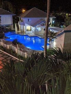Pool Complex at Night