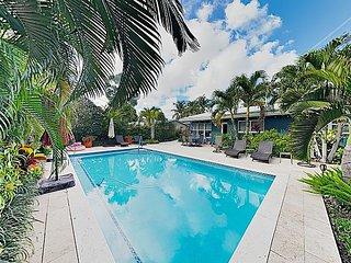 Near Fort Lauderdale Beach! Lush Tropical Retreat w/ Private Pool & Grill