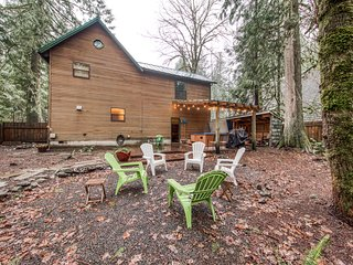 Dog-friendly cabin w/private hot tub, shared pool and sauna