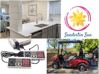 2 Night Weekend Available 7/31-8/2! Enjoy a Golf Cart and Brand New Renovations!