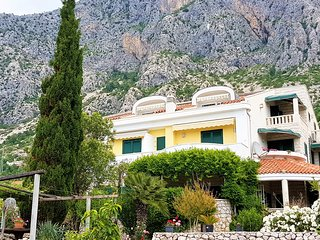 Apartment with seaview, balkony pool, tennis on the Makarska riviera, Drasnice