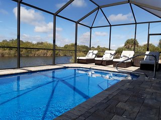 Stunning BRAND NEW 3 bed home, fabulous pool overlooking river,