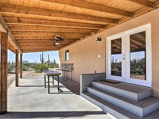 NEW! Secluded Marana Home w/ Viewing Decks+Privacy