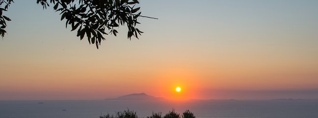One of the  spectacular  sunset in the sea between Ischia and Procida. (view from the house)
