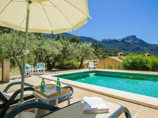 Villa Son Llarg with private pool and mountain and sea views