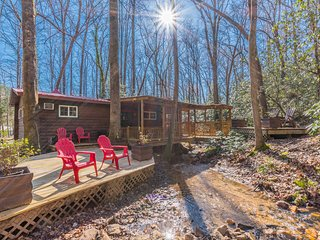 Black Bear Creek | Creek Front Cabin | 2BR 1BA | 1800 Ft From Downtown Helen, GA