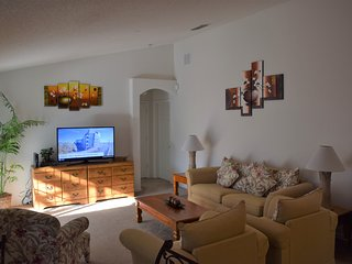 Family Living room with 55' Smart TV