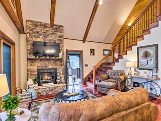 Mountain Cabin w/Fire Pit, Walk to Golf & Fishing!