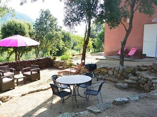 Nice apartment in a typical Corsican village with garden and mountain view