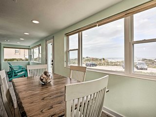 NEW! Quaint Beach Cottage with Ocean View & Porch!