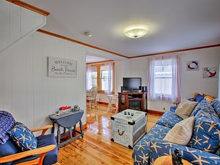 NEW! Oceanside Cottage with Porch, Steps to Beach!