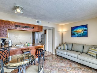 Waterfront condo w/ shared pool & hot tub - across road from beach